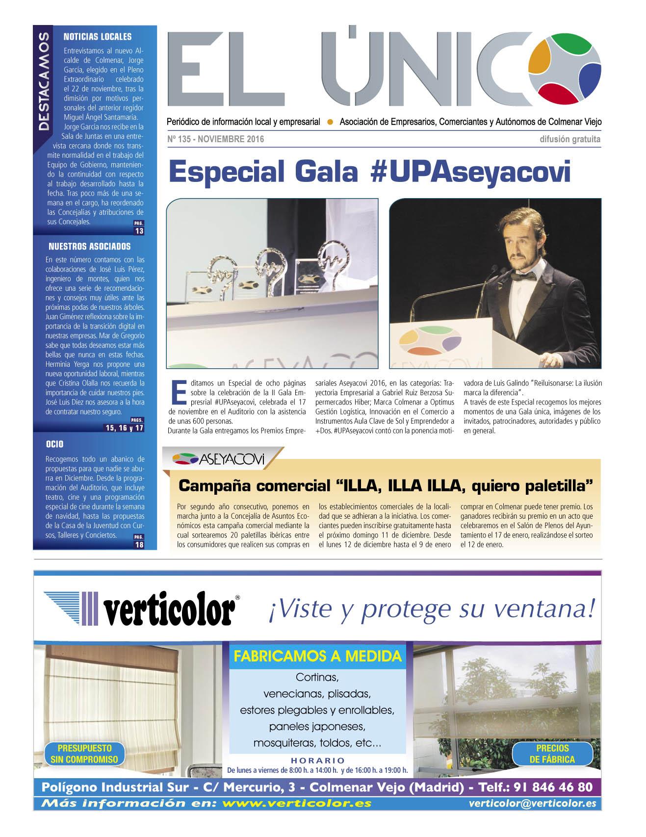 El Único. Noviembre 2016