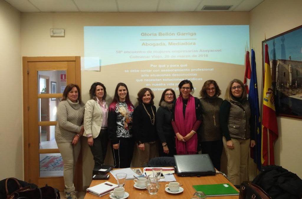 58 Encuentro de Empresarias: asesoramiento jurídico con Gloria Bellón