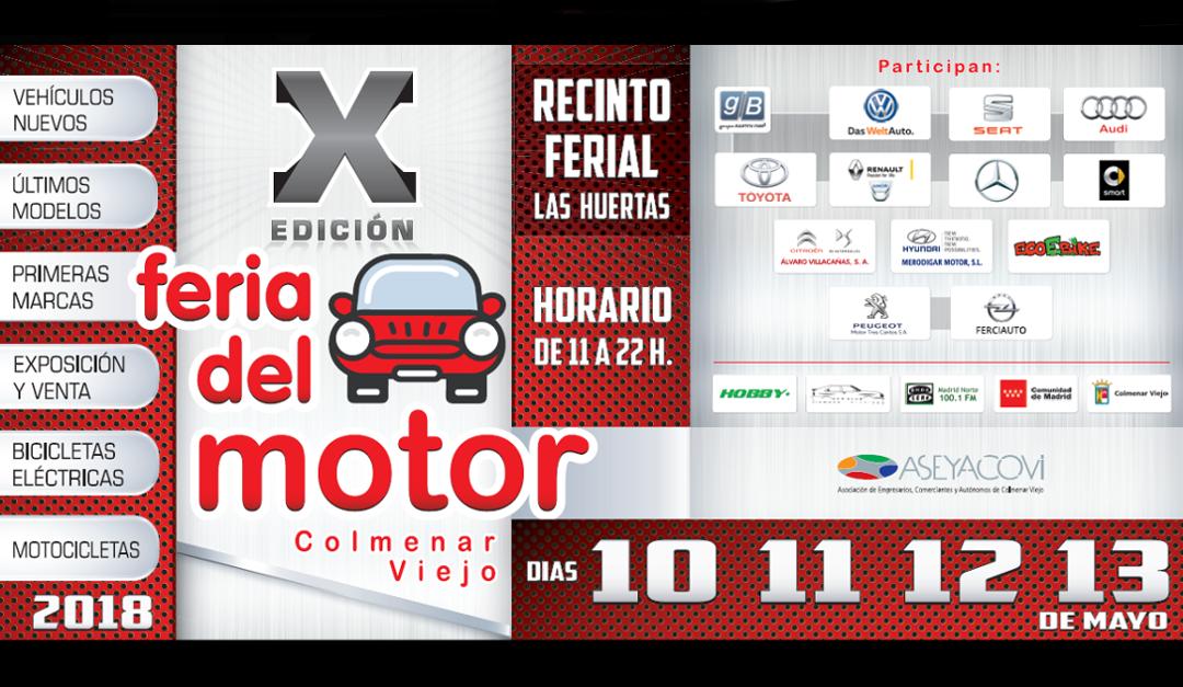 X Feria del Motor de Colmenar Viejo: del 10 al 13 de mayo