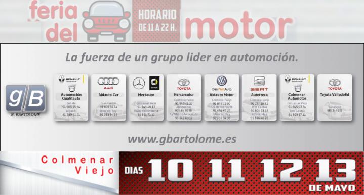 X Feria del Motor: Grupo Bartolomé expondrá varias marcas