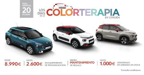 Llegan los días de la Colorterapia a Citroën Alvaro Villacañas