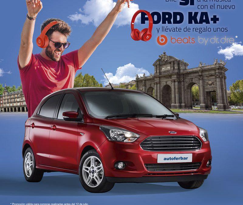 Ford Ka+, ¡estrena nuevo coche acompañado de la mejor música!
