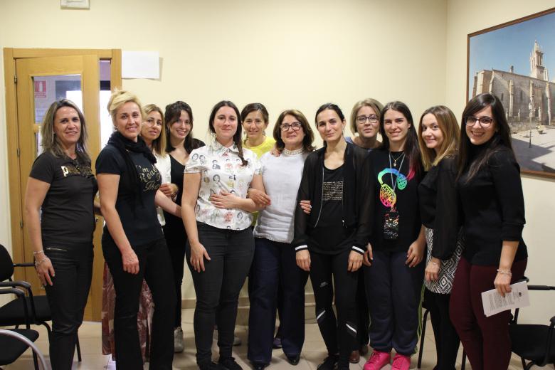 Sara García impartió un taller de yoga en el 63º Encuentro de Empresarias