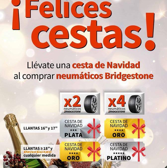 Consigue una cesta de Navidad con la oferta de neumáticos de Bridgestone
