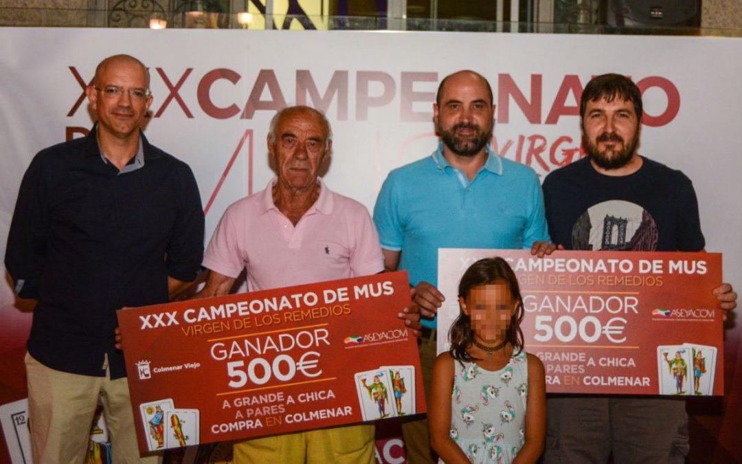 """Ganadores del XXX Campeonato de Mus """"Virgen de los Remedios"""""""