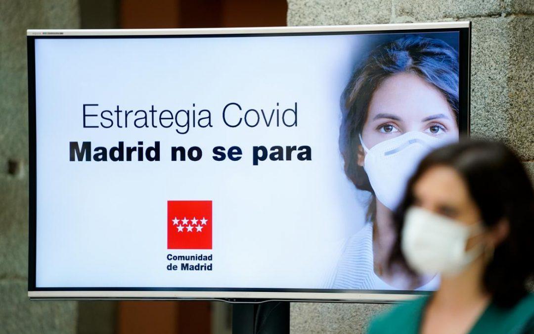 La Comunidad de Madrid refuerza las medidas de prevención de la pandemia del COVID-19